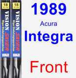 Front Wiper Blade Pack for 1989 Acura Integra - Vision Saver