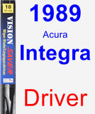 Driver Wiper Blade for 1989 Acura Integra - Vision Saver