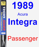 Passenger Wiper Blade for 1989 Acura Integra - Vision Saver
