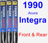 Front & Rear Wiper Blade Pack for 1990 Acura Integra - Vision Saver