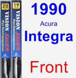 Front Wiper Blade Pack for 1990 Acura Integra - Vision Saver