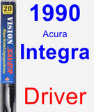 Driver Wiper Blade for 1990 Acura Integra - Vision Saver