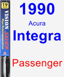 Passenger Wiper Blade for 1990 Acura Integra - Vision Saver
