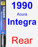 Rear Wiper Blade for 1990 Acura Integra - Vision Saver