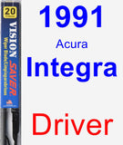 Driver Wiper Blade for 1991 Acura Integra - Vision Saver