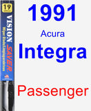Passenger Wiper Blade for 1991 Acura Integra - Vision Saver