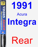 Rear Wiper Blade for 1991 Acura Integra - Vision Saver