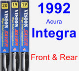 Front & Rear Wiper Blade Pack for 1992 Acura Integra - Vision Saver