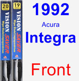 Front Wiper Blade Pack for 1992 Acura Integra - Vision Saver