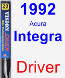 Driver Wiper Blade for 1992 Acura Integra - Vision Saver