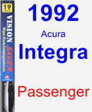 Passenger Wiper Blade for 1992 Acura Integra - Vision Saver