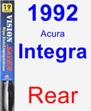 Rear Wiper Blade for 1992 Acura Integra - Vision Saver