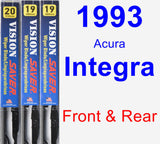 Front & Rear Wiper Blade Pack for 1993 Acura Integra - Vision Saver