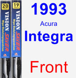 Front Wiper Blade Pack for 1993 Acura Integra - Vision Saver