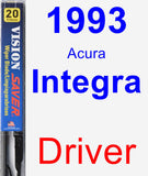 Driver Wiper Blade for 1993 Acura Integra - Vision Saver