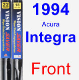 Front Wiper Blade Pack for 1994 Acura Integra - Vision Saver