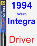 Driver Wiper Blade for 1994 Acura Integra - Vision Saver