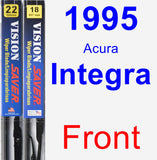 Front Wiper Blade Pack for 1995 Acura Integra - Vision Saver