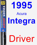 Driver Wiper Blade for 1995 Acura Integra - Vision Saver