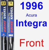 Front Wiper Blade Pack for 1996 Acura Integra - Vision Saver