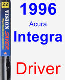 Driver Wiper Blade for 1996 Acura Integra - Vision Saver