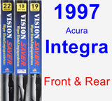 Front & Rear Wiper Blade Pack for 1997 Acura Integra - Vision Saver