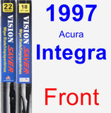 Front Wiper Blade Pack for 1997 Acura Integra - Vision Saver