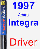 Driver Wiper Blade for 1997 Acura Integra - Vision Saver