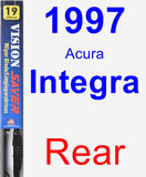 Rear Wiper Blade for 1997 Acura Integra - Vision Saver