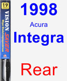 Rear Wiper Blade for 1998 Acura Integra - Vision Saver