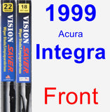 Front Wiper Blade Pack for 1999 Acura Integra - Vision Saver