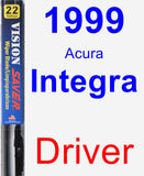 Driver Wiper Blade for 1999 Acura Integra - Vision Saver