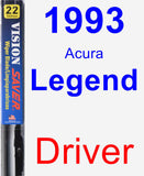 Driver Wiper Blade for 1993 Acura Legend - Vision Saver