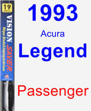 Passenger Wiper Blade for 1993 Acura Legend - Vision Saver