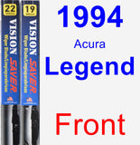 Front Wiper Blade Pack for 1994 Acura Legend - Vision Saver