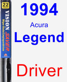 Driver Wiper Blade for 1994 Acura Legend - Vision Saver
