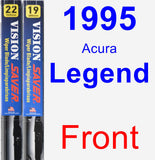 Front Wiper Blade Pack for 1995 Acura Legend - Vision Saver
