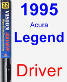 Driver Wiper Blade for 1995 Acura Legend - Vision Saver