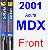 Front Wiper Blade Pack for 2001 Acura MDX - Vision Saver