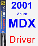 Driver Wiper Blade for 2001 Acura MDX - Vision Saver