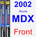 Front Wiper Blade Pack for 2002 Acura MDX - Vision Saver