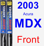 Front Wiper Blade Pack for 2003 Acura MDX - Vision Saver