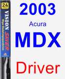 Driver Wiper Blade for 2003 Acura MDX - Vision Saver