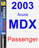 Passenger Wiper Blade for 2003 Acura MDX - Vision Saver