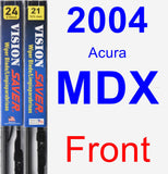 Front Wiper Blade Pack for 2004 Acura MDX - Vision Saver