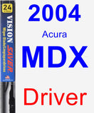 Driver Wiper Blade for 2004 Acura MDX - Vision Saver