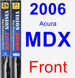 Front Wiper Blade Pack for 2006 Acura MDX - Vision Saver