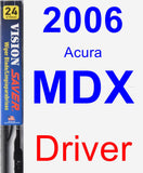 Driver Wiper Blade for 2006 Acura MDX - Vision Saver