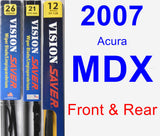 Front & Rear Wiper Blade Pack for 2007 Acura MDX - Vision Saver