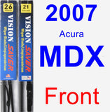 Front Wiper Blade Pack for 2007 Acura MDX - Vision Saver